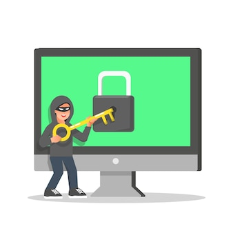 보안 시스템에 침입하려는 해커