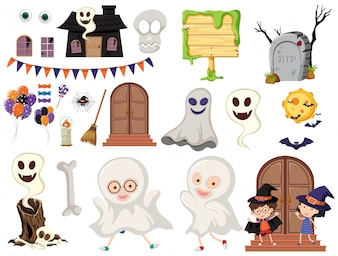 A Halloween Element on White Background