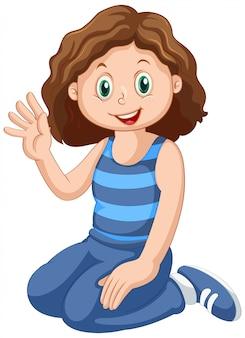 Счастливый женский персонаж Бесплатные векторы
