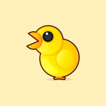 Счастливый смешной мультяшный петух курица, векторная иллюстрация логотипа