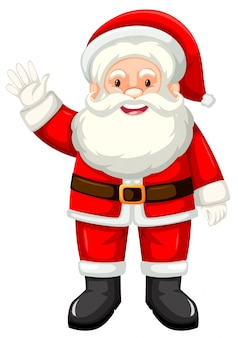 A happy santa claus on white backgroud