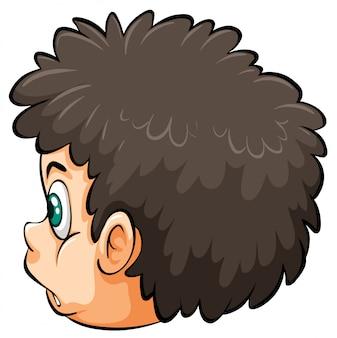 男の子の頭