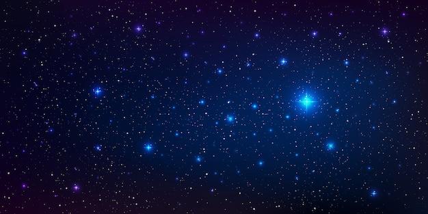 Высококачественная фоновая иллюстрация галактики со звездной пылью и яркими сияющими звездами, освещающими космос