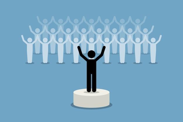 Лидер, вдохновляющий и мотивирующий своих последователей.