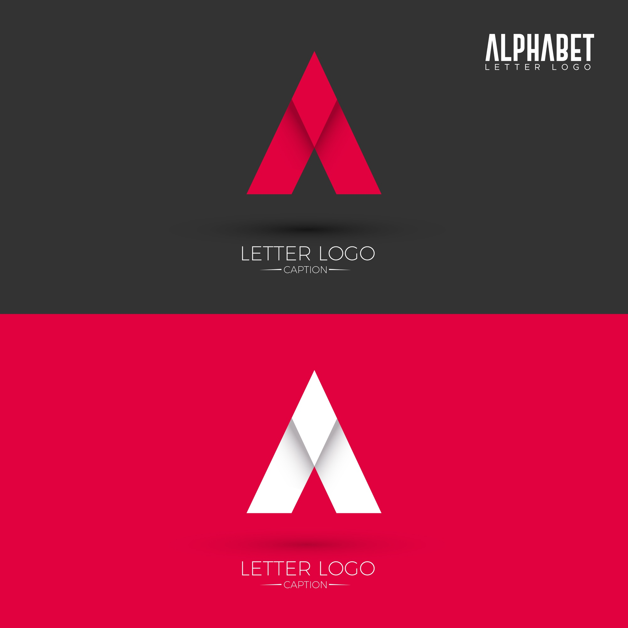 A Letter Origami Style Logo