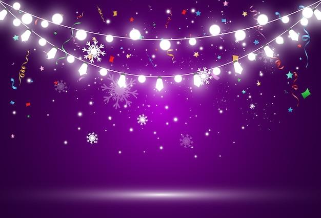 紫色の背景に明るい花輪