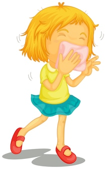 風邪を持つ少女