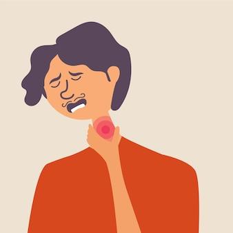 Мужчина болеет гриппом