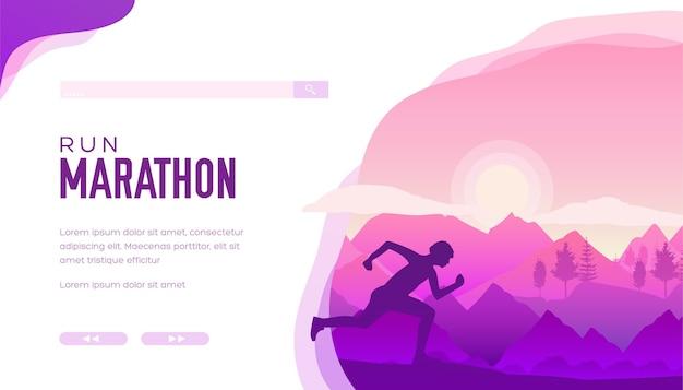 Спортсмен-марафон проводит тренировку по открытой пересеченной местности