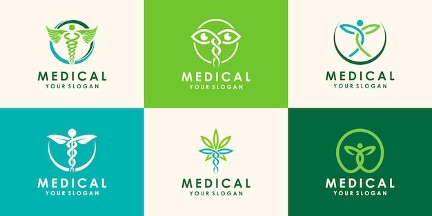 의료용 마리화나 식물 로고