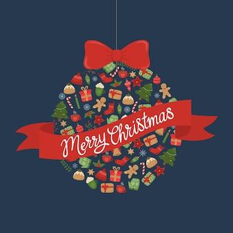 어두운 배경에 메리 크리스마스 인사말 카드 크리스마스 공