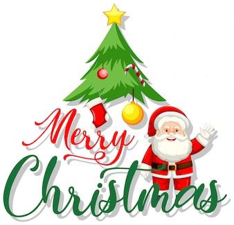 A merry christmas symbol