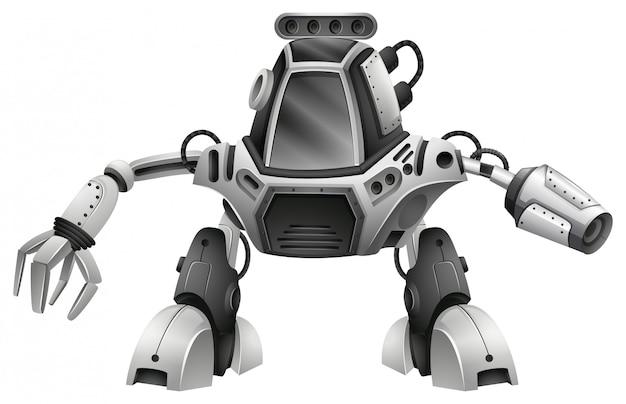 Современный робот на белом фоне