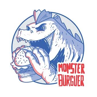 Монстр с бургером