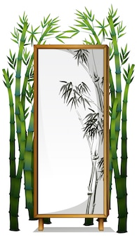 Естественная деревянная рамка из бамбука