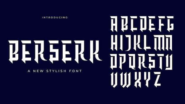 Новый стильный шрифт berserk