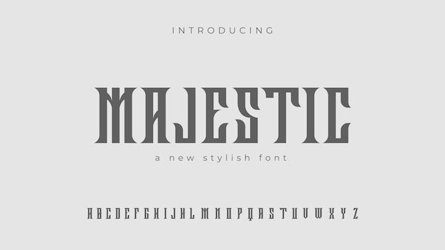 Новый стильный шрифт majestic