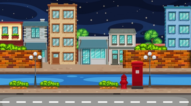 Ночная городская сцена
