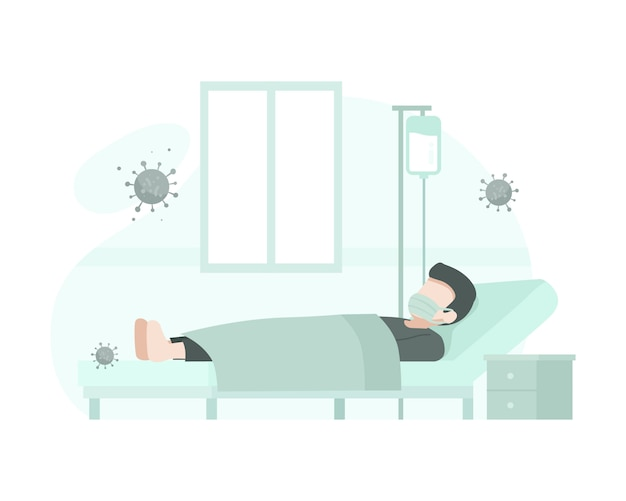 コロナウイルスのために患者が入院した
