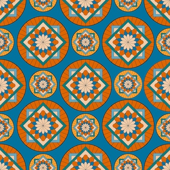 幾何学的な抽象的なパターンを持つパターン