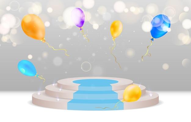 受賞者とプレゼンテーションを称えるための台座またはプラットフォームvector