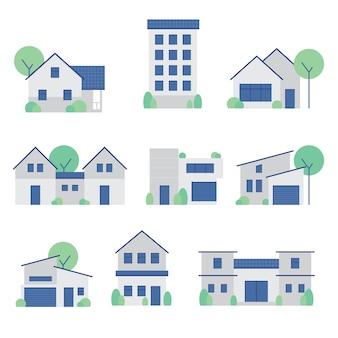 家、家、建物の写真セット
