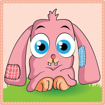 A pink bunny