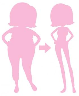 重量を失うピンクのシルエットの少女