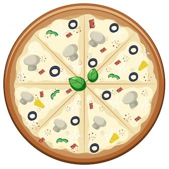 Соус для пиццы на белом фоне