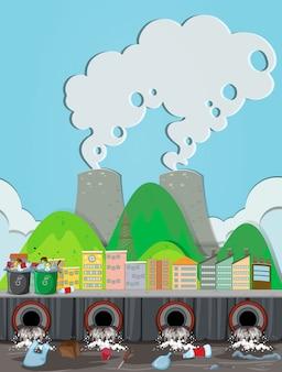 원자력 발전소의 오염