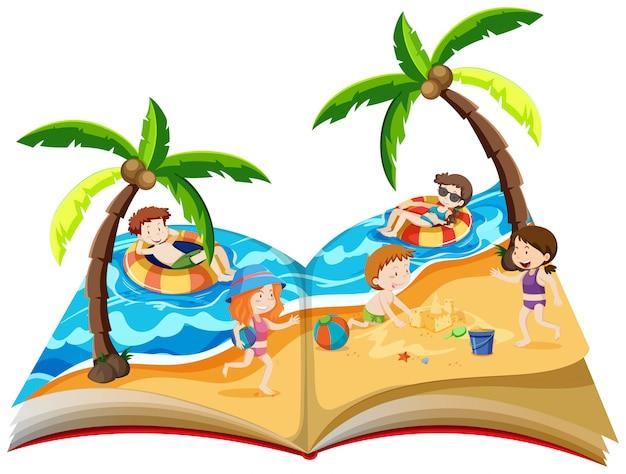 여름 휴가 팝업 책