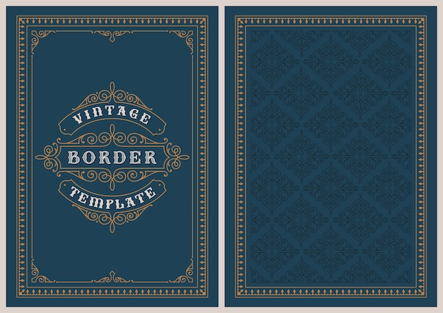 Шаблон открытки в винтажном стиле, идеально подходящий для рождественских открыток, свадебных приглашений и многих других целей.