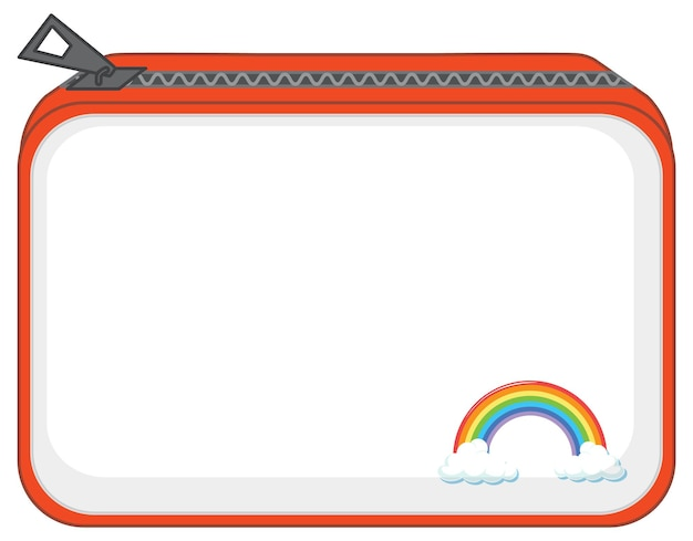ジッパーとレインボー柄の財布