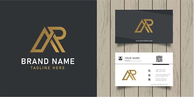 Ar логотип дизайн шаблона векторный графический элемент брендинга и визитная карточка