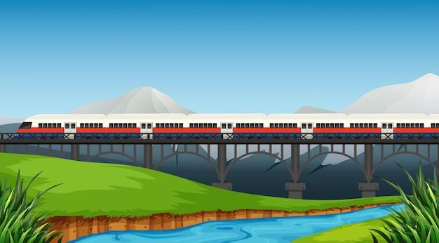 Железная дорога в сельский пейзаж