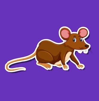 쥐 스티커 캐릭터