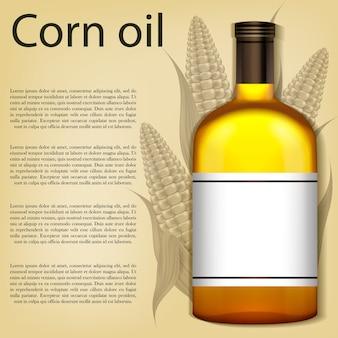 Реалистичная бутылка кукурузного масла.