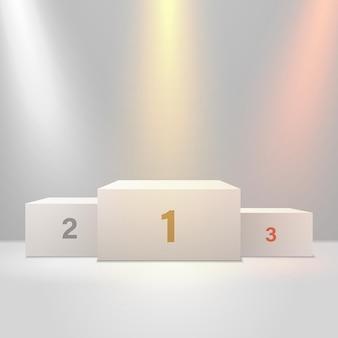 우승자를 위한 사실적인 조명 3d 연단