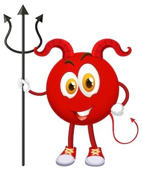 表情の赤い悪魔の漫画のキャラクター