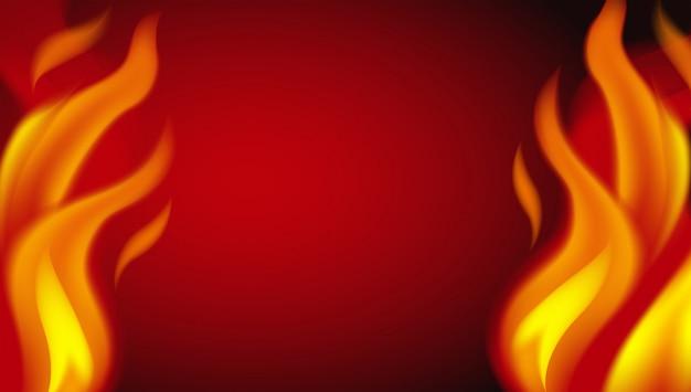 赤い熱い火の背景