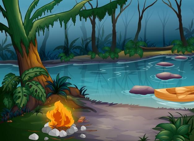 강과 캠프 불