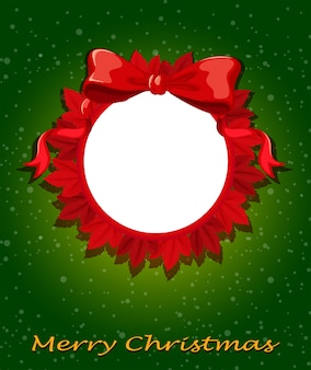 Круглый рождественский шаблон
