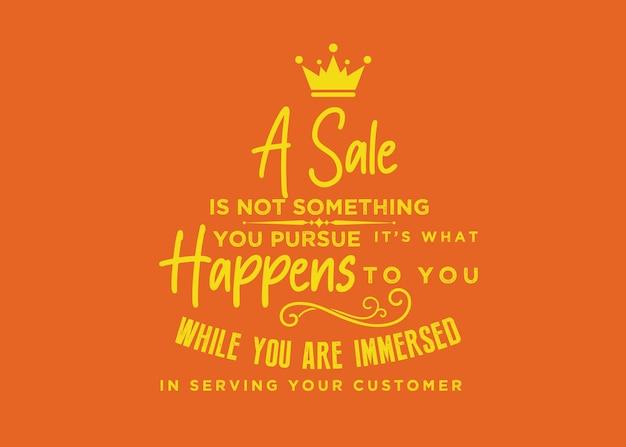 Продажа - это не то, к чему вы стремитесь