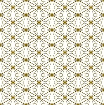日本の伝統工芸品の要素を基にしたシームレスなパターン