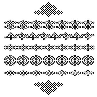 Набор черно-белых геометрических конструкций