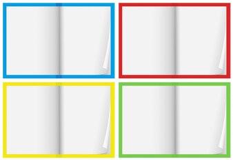 A Set of Blank Notebook