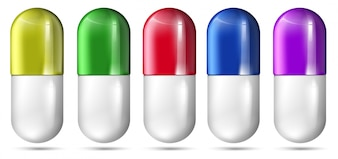 A Set of Colourful Capsule