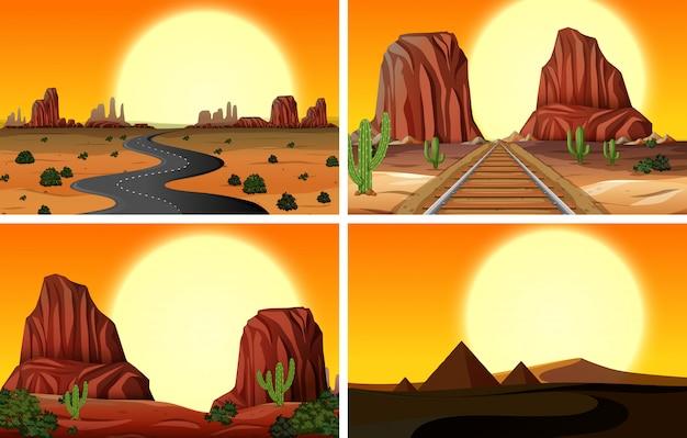 砂漠の風景のセット