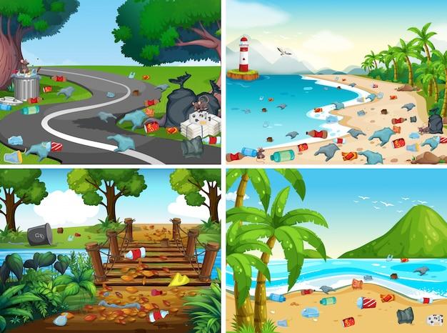 環境汚染のセット