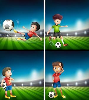 サッカー選手のセット